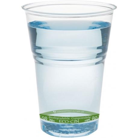 Bicchiere 200 cc in PLA Vista Frontale