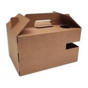 Scatola delivery box avana con maniglia e foro per bottiglia