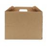 Scatola delivery box avana con maniglia e foro per bottiglia large